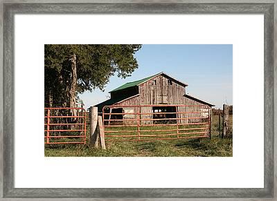 2008 Barn Framed Print
