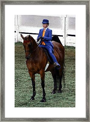 2008-c World Championship Horse Show - Louisville Ky Framed Print by Thia Stover