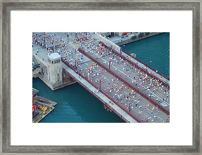Framed Print featuring the photograph 2008 Chicago Marathon by Kay Gilley