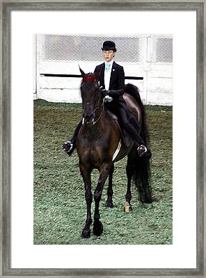 2008-e-world Championship Horse Show - Louisville Ky Framed Print by Thia Stover