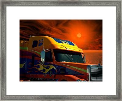 2008 Freightliner Coronado Ppg Semi Truck Framed Print