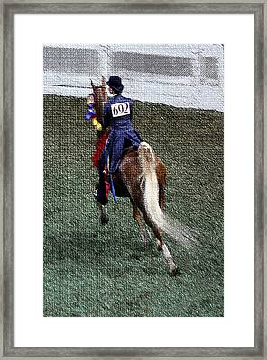 2008-jj World Championship Horse Show - Louisville Ky Framed Print by Thia Stover