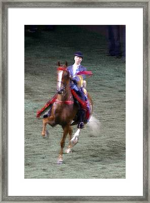 2008-k World Championship Horse Show - Louisville Ky Framed Print by Thia Stover