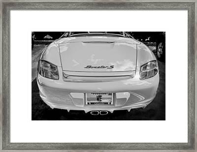 2008 Porsche Limited Edition Orange Boxster Bw Framed Print