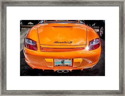 2008 Porsche Limited Edition Orange Boxster  Framed Print