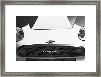 2009 Spyker C8 Laviolette Lm85 Grille Emblem Framed Print by Jill Reger
