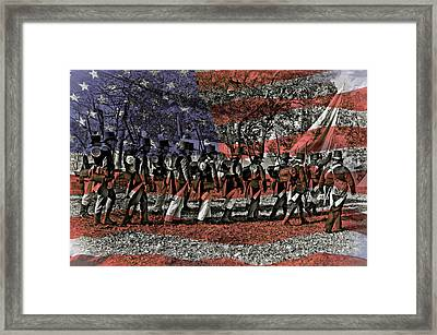 200th Anniversary, Battle Framed Print by Rona Schwarz
