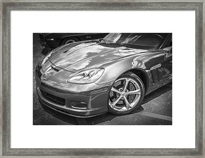 2010 Chevy Corvette Grand Sport Bw Framed Print by Rich Franco