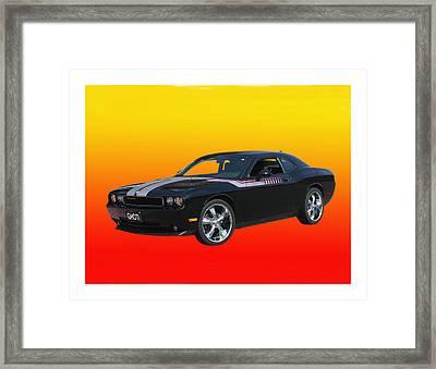 2010 Dodge Challenger Framed Print by Jack Pumphrey