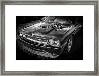 2010 Dodge Challenger Rt Hemi Bw   Framed Print