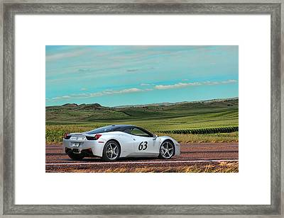 2010 Ferrari Framed Print by Sylvia Thornton