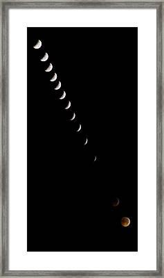 2010 Lunar Eclipse Framed Print by Benjamin Reed