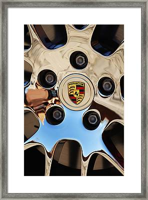 2010 Porsche Panamera Turbo Wheel Framed Print by Jill Reger