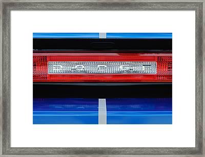 2011 Dodge Challenger Rt Hemi Taillight Emblem Framed Print