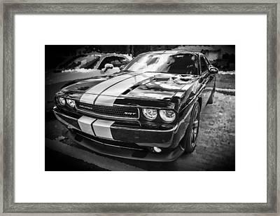 2011 Dodge Challenger Srt Bw Framed Print