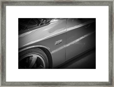 2011 Dodge Challenger Srt8 Hemi Bw  Framed Print by Rich Franco