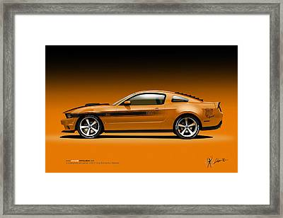 2011 Ford Twister Mustang Framed Print