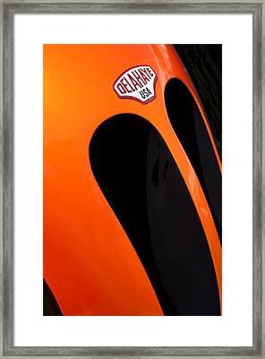 2011 Frank Lockhart Tribute Boattail Speedster Custom Roadster Delahaye Emblem Framed Print