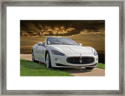 2011 Maserati Gran Turismo Convertible II Framed Print