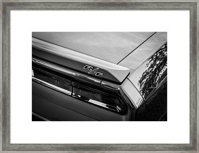 2012 Dodge Challenger Rt Hemi Bw   Framed Print by Rich Franco