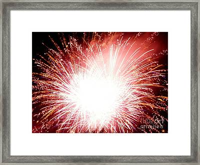 Framed Print featuring the digital art 2012 Fireworks by Angelia Hodges Clay