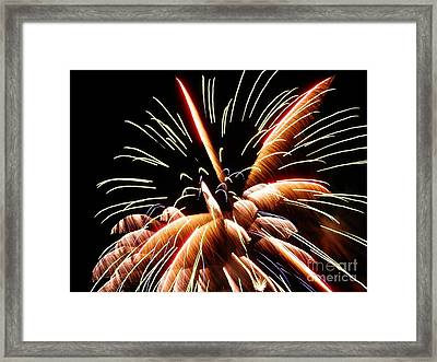 Framed Print featuring the digital art 2012 Fireworks By Aclay by Angelia Hodges Clay