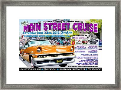 2012 Main Street Cruise Poster Framed Print