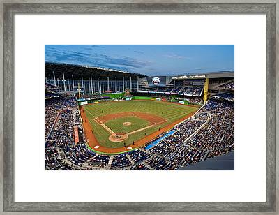 2012 Marlins Park Framed Print by Mark Whitt