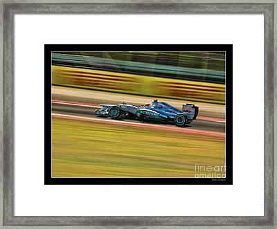 2012 Mercedes Michael Schumacher Framed Print by Blake Richards