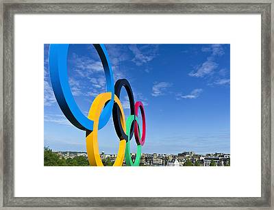 2012 Olympic Rings Over Edinburgh Framed Print