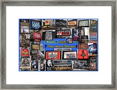 2012 Tony Award Nominees Collage Framed Print by Steven Spak