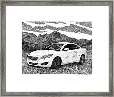 2012 Volvo C 70 Front Framed Print by Jack Pumphrey