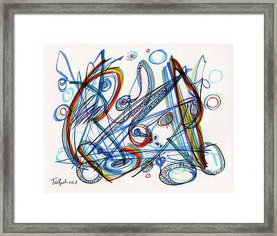 2013 Abstract Drawing #12 Framed Print