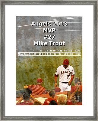 2013 Angels Mvp Framed Print by Robert Ball
