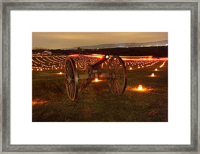 Framed Print featuring the photograph 2013 Antietam Cannon by Judi Quelland