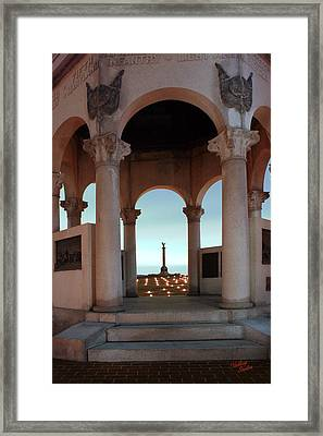 Framed Print featuring the photograph 2013 Antietam Monuments 2 by Judi Quelland