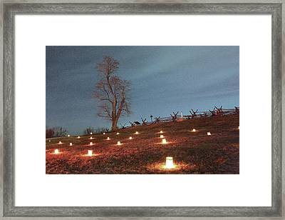 Framed Print featuring the photograph 2013 Antietam Near Bloody Lane by Judi Quelland