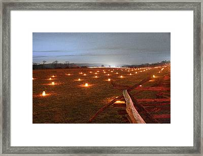Framed Print featuring the photograph 2013 Antietam Near The Cornfield by Judi Quelland