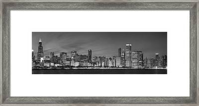 2013 Black And White Chicago Framed Print by Donald Schwartz