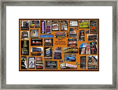 2013 Broadway Fall Collage Framed Print