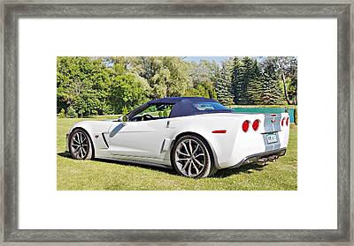 2013 Corvette 427 Sixtieth Anniversary Special Striped Roof Up Framed Print