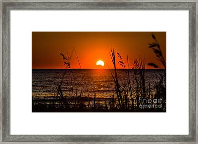 2013 Partial Solar Eclipse Framed Print by Matthew Trudeau