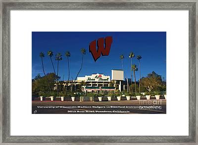 2013 Rose Bowl Pasadena Ca Framed Print by Tommy Anderson