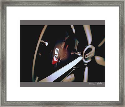 2014 Audi Rs7 Brake And Wheel Framed Print