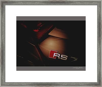 2014 Audi Rs7 Logo Rear Framed Print