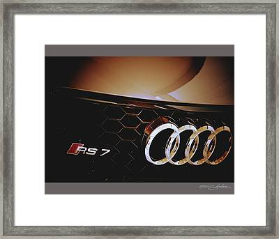 2014 Audi Rs7 Logo Framed Print