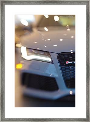2014 Audi Rs7 Nardo Grey Framed Print