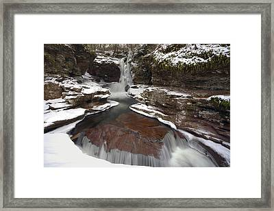 2014 Begins At Adams Falls Framed Print by Gene Walls
