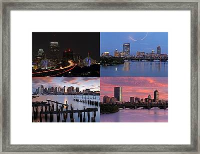 2014 Best Of Boston Skyline Photography Framed Print by Juergen Roth
