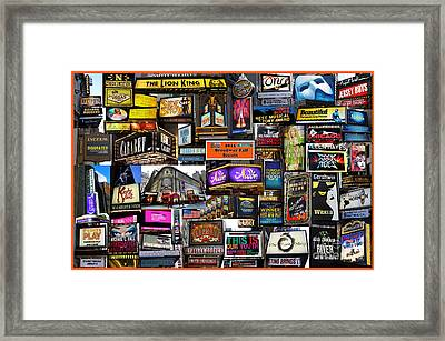 2014 Broadway Fall Season Collage Framed Print